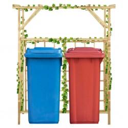 stradeXL Pergola na dwa kosze na śmieci, impregnowane drewno sosnowe