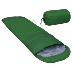 stradeXL Lekki śpiwór, zielony, 15℃, 850 g