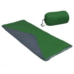 stradeXL Lekki śpiwór prostokątny, zielony, 1100 g, 10°C