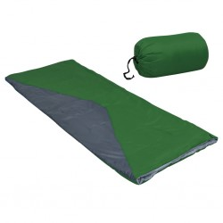 stradeXL Lekkie śpiwory prostokątne, 2 szt., zielone, 1100 g, 10°C