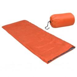 stradeXL Lekki śpiwór dziecięcy, prostokątny, pomarańczowy, 670 g, 15°C