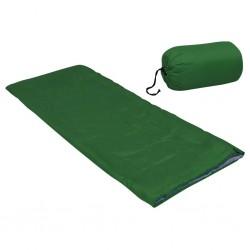 stradeXL Lekki śpiwór dziecięcy, prostokątny, zielony, 670 g, 15°C