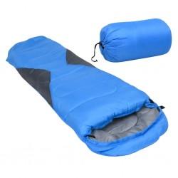 stradeXL Lekki śpiwór dziecięcy typu mumia, niebieski, 670 g, 10°C