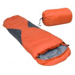 stradeXL Lekki śpiwór dziecięcy typu mumia, pomarańczowy, 670 g, 10°C