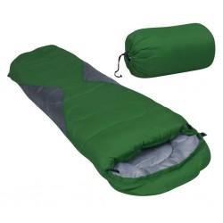 stradeXL Lekki śpiwór dziecięcy typu mumia, zielony, 670 g, 10°C
