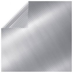 stradeXL Prostokątna, pływająca folia solarna na basen, 10x5 m, srebrna