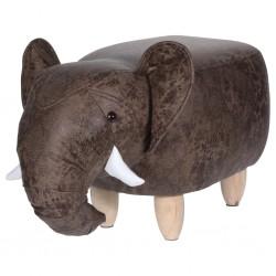 Home&Styling Stołek w kształcie słonia, 64 x 35 cm