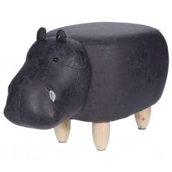 Home&Styling Stołek w kształcie hipopotama, 64 x 35 cm