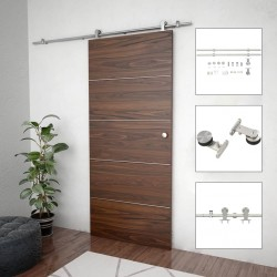 stradeXL System do mocowania drzwi przesuwnych, 183 cm, stal, srebrny