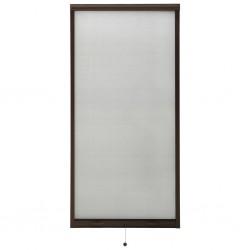 stradeXL Rolowana moskitiera okienna, brązowa, 80x170 cm