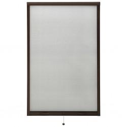stradeXL Rolowana moskitiera okienna, brązowa, 100x170 cm