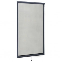 stradeXL Rolowana moskitiera okienna, antracytowa, 90x170 cm
