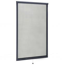 stradeXL Rolowana moskitiera okienna, antracytowa, 100x170 cm