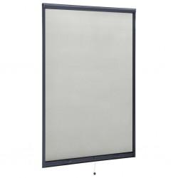 stradeXL Rolowana moskitiera okienna, antracytowa, 110x170 cm