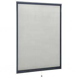 stradeXL Rolowana moskitiera okienna, antracytowa, 120x170 cm