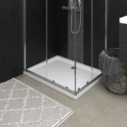 stradeXL Brodzik prysznicowy z wypustkami, biały, 90x70x4 cm, ABS
