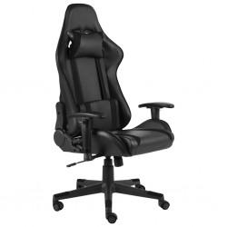 stradeXL Obrotowy fotel gamingowy, czarny, PVC