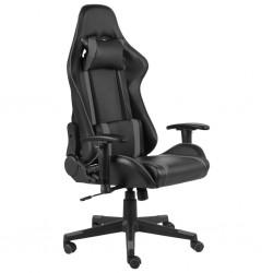 stradeXL Obrotowy fotel gamingowy, szary, PVC