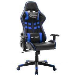 stradeXL Fotel dla gracza, czarno-niebieski, sztuczna skóra