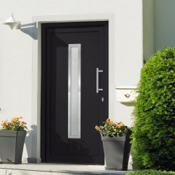 stradeXL Drzwi wejściowe zewnętrzne, antracytowe, 108 x 208 cm