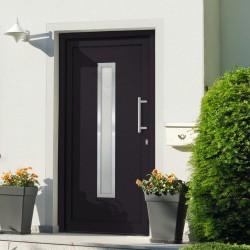 stradeXL Drzwi wejściowe zewnętrzne, antracytowe, 88 x 200 cm