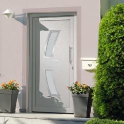 stradeXL Drzwi frontowe, białe, 98 x 200 cm