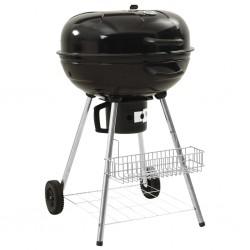 stradeXL Grill węglowy typu kettle, 73x58x96 cm, stal