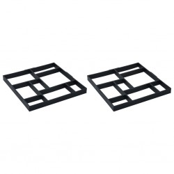 stradeXL Formy do kostki brukowej, 2 szt., 50,4 x 50,4 x 4,3 cm, plastik