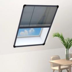 stradeXL Plisowana moskitiera okienna, aluminium, antracytowa, 80x120 cm