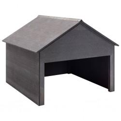 stradeXL Garaż dla kosiarki, szary, 80x80x70 cm, WPC