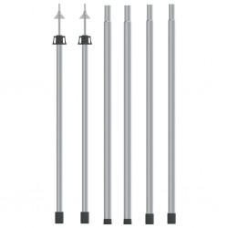 stradeXL Teleskopowe słupki do tarpa, dł. 102-260 cm, 2 szt., aluminium