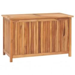 stradeXL Skrzynia ogrodowa, 90x50x58 cm, lite drewno tekowe