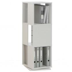 FMD Obrotowa szafka na dokumenty, 34x34x108 cm, biała