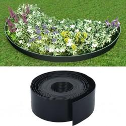 stradeXL Obrzeże ogrodowe, czarne, 10 m, 10 cm, PE