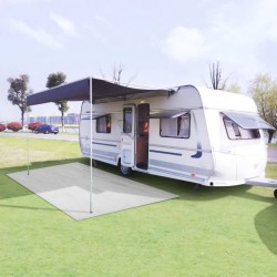 stradeXL Wykładzina do namiotu, 100 x 500 cm, biała