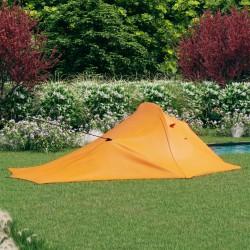 stradeXL Namiot turystyczny, 317 x 240 x 100 cm, pomarańczowo-szary