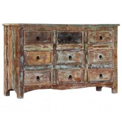 stradeXL Komoda, 130x40x80 cm, lite drewno z odzysku