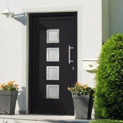 stradeXL Drzwi wejściowe zewnętrzne, antracytowe, 98 x 190 cm