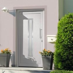 stradeXL Drzwi wejściowe zewnętrzne, białe, 98 x 190 cm