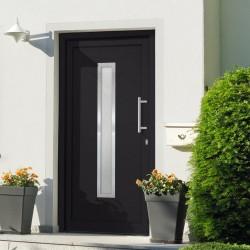 stradeXL Drzwi wejściowe zewnętrzne, antracytowe, 98 x 208 cm