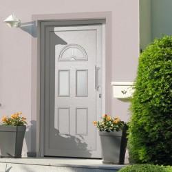 stradeXL Drzwi wejściowe zewnętrzne, białe, 88 x 208 cm