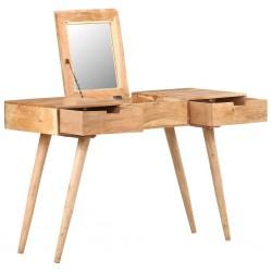stradeXL Toaletka z lustrem, 112x45x76 cm, lite drewno akacjowe