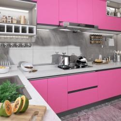 stradeXL Okleina meblowa, różowa, wysoki połysk, 500x90 cm, PVC