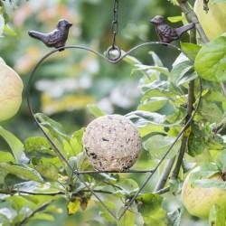 HI Karmnik dla ptaków, w kształcie serca, 23,5 cm, brązowy