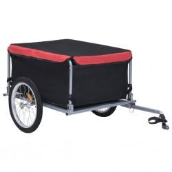 stradeXL Przyczepa rowerowa, transportowa, czarno-czerwona, 65 kg