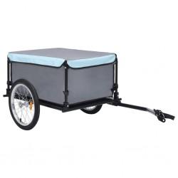 stradeXL Przyczepa rowerowa, transportowa, czarno-niebieska, 65 kg