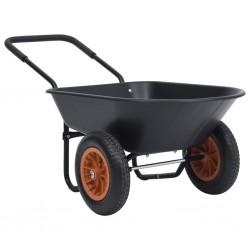 stradeXL Taczka, czarno-pomarańczowa, 78 L, 100 kg