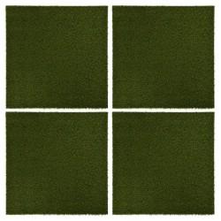 stradeXL Sztuczna trawa w płytkach, 4 szt., 50x50x2,5 cm, gumowa