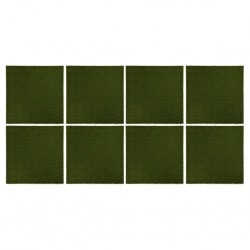 stradeXL Sztuczna trawa w płytkach, 8 szt., 50x50x2,5 cm, gumowa