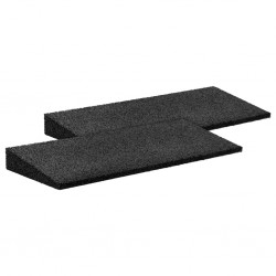 stradeXL Gumowe rampy najazdowe, 2 szt., czarne, 50x20x1-4,3 cm